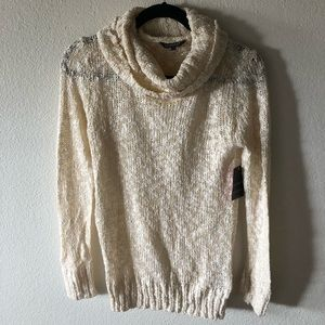 Cowl neck knit sweater